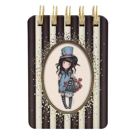 The Hatter Classic Stripe Mini Wiro-Bound Notebook