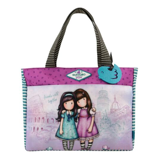 Cityscape Friends Walk Together Carry-All Bag