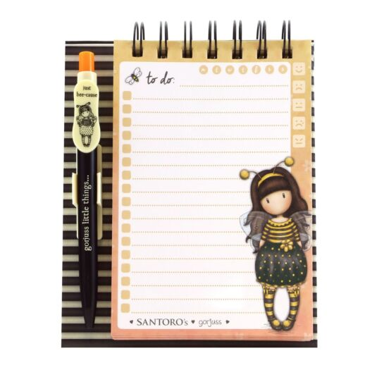 Bee-Loved Standing Memo Pad with Pen