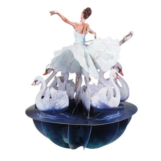 PS064 Santoro Pirouettes Swan Lake Ballet 3D Pop Up Card