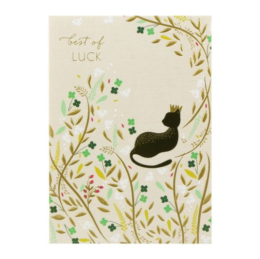 Best Of Luck Cat Card