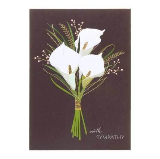 Sympathy Lillies Card