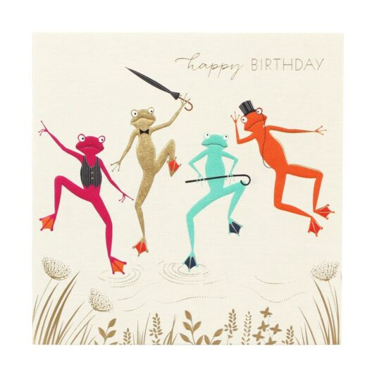 Dancing Frogs Birthday Card