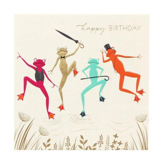 Dancing Frogs Birthday Card