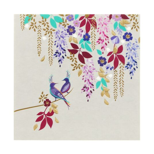 Purple Birds & Foliage Card