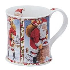 Seasons Greetings Santa Wessex shape Mug