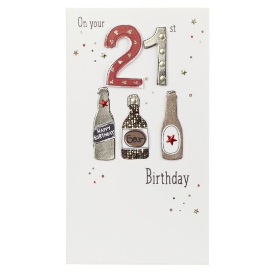 Beer 21st Birthday Card