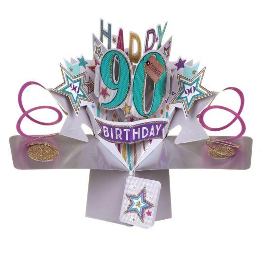 90th Birthday Pop-Up Card