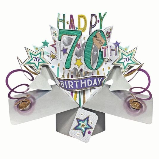 70th Birthday Pop Up Card