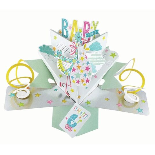 'Baby Shower' Pop Up Card