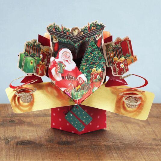 Pop Up Christmas Cards.Santa Pop Up Christmas Card