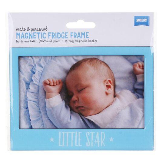 Blue 'Little Star' Fridge Frame