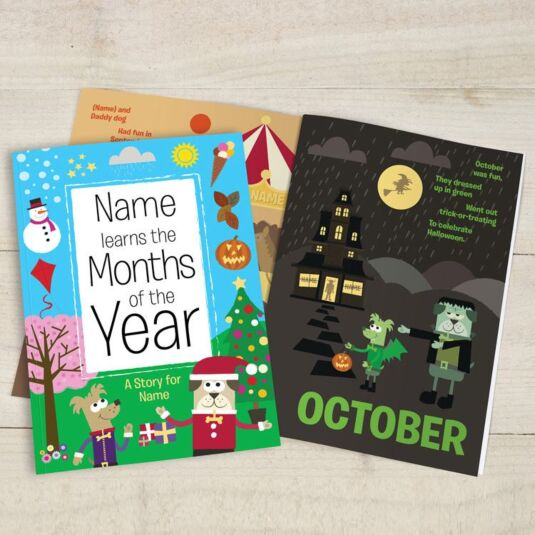 Learn the Months of the Year Personalised Children's Book