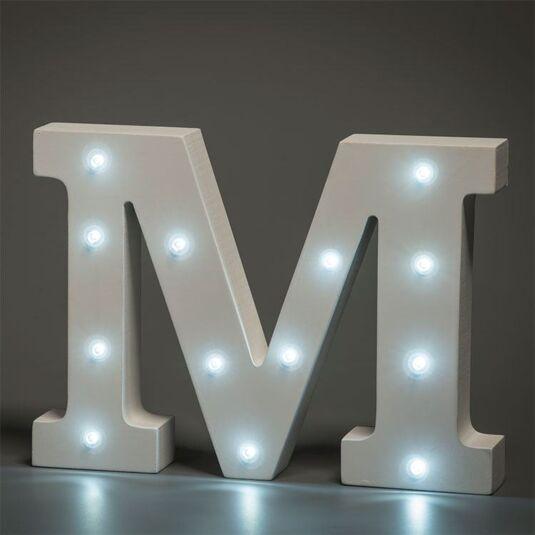 Up In Lights LED Alphabet Letter - M : Temptation Gifts