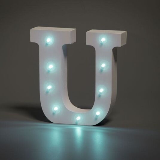 LED Alphabet Letter - U