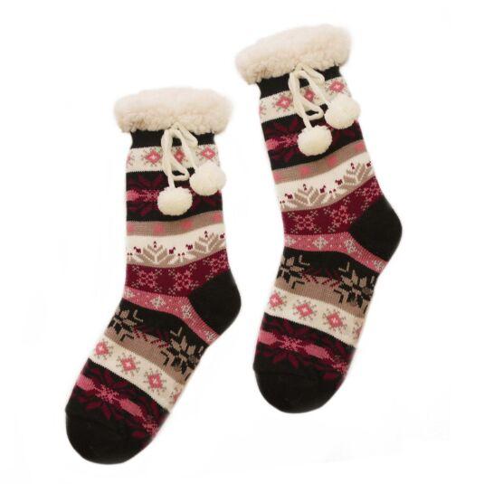 Pink Sherpa Lined Socks