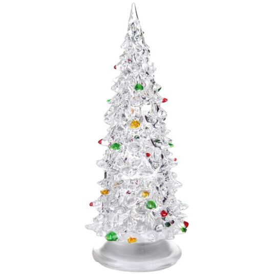 "8"" Crystal Christmas Tree with Flashing Lights"