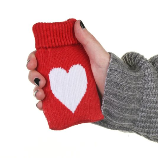 Instant Heat Pad with Knitted Cover - Red Heart