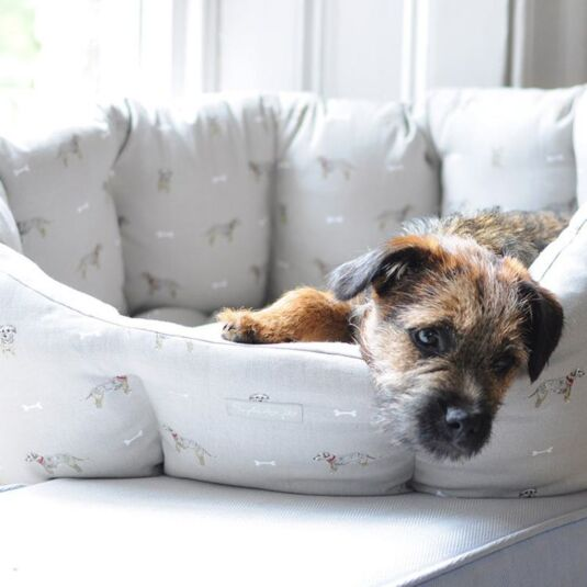 Terrier Cosy Dog Bed - Medium