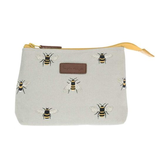 Busy Bees Small Canvas Makeup Bag
