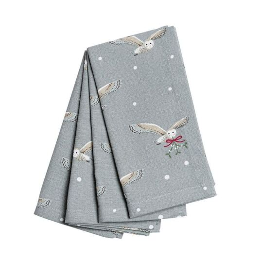 Night Owl Set of Four Napkins