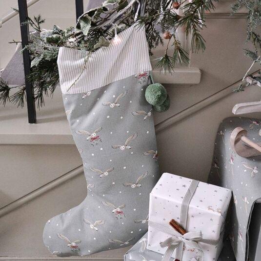 Gray Christmas Stockings.Sophie Allport Night Owl Christmas Stocking