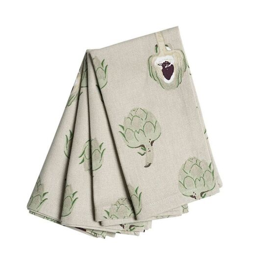 Artichoke Set of Four Napkins