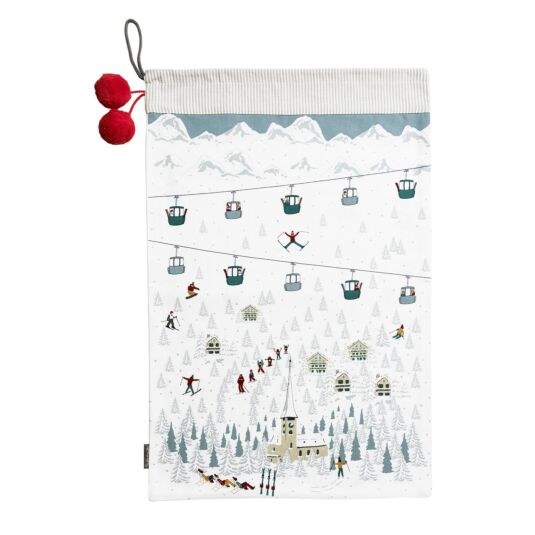 Skiing Christmas Sack