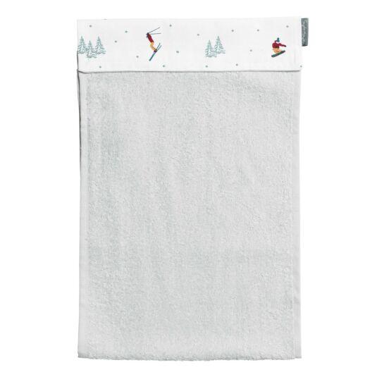 Skiing Roller Hand Towel