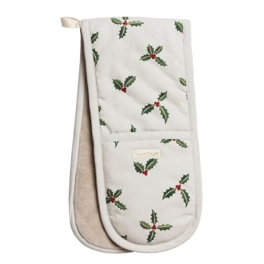 Christmas Holly & Berry Double Oven Glove