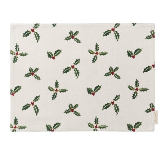Christmas Holly & Berry Fabric Placemat