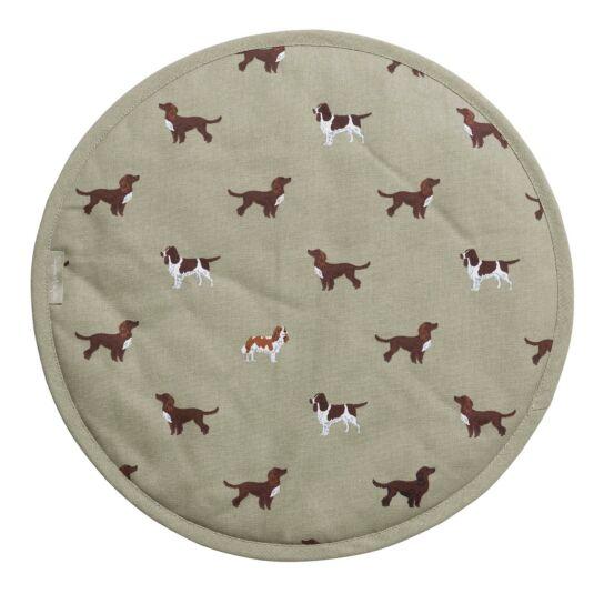 Spaniels Circular Hob Cover