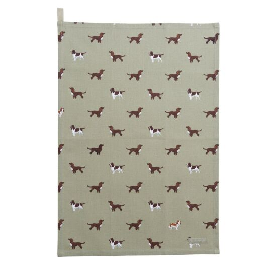 Spaniels Tea Towel