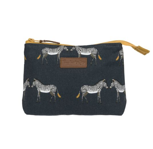 ZSL Zebra Canvas Makeup Bag
