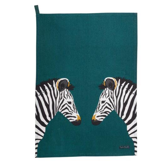 ZSL Zebra Scene Tea Towel