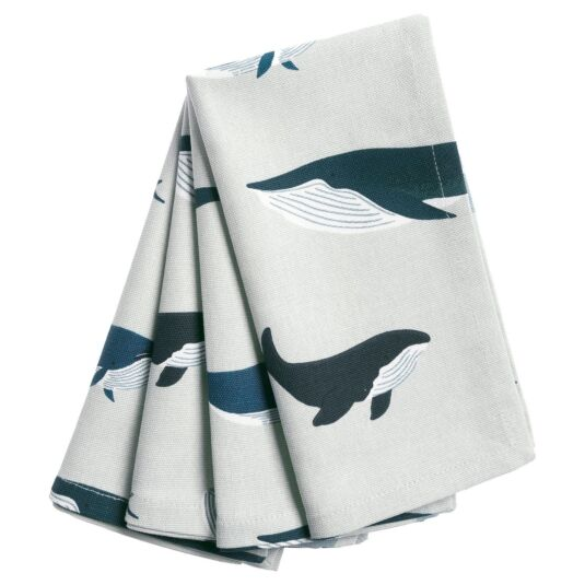 Whales Set Of Four Napkins