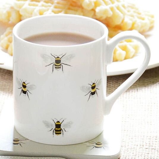 Bees White Boxed Mug