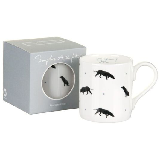 Black Labrador Sit! Mug