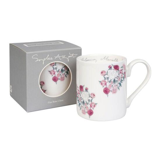 Peony 'Blooming Marvellous!' White Mug