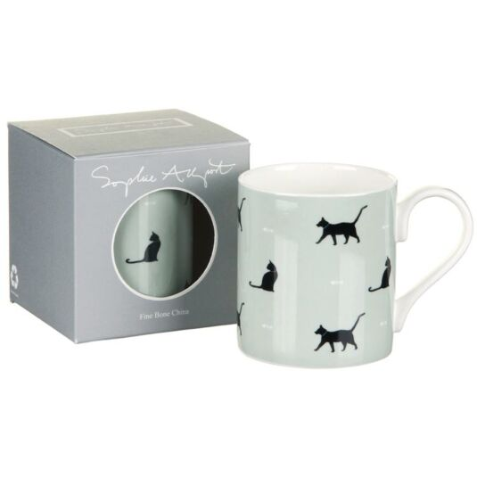 Black Cats & Bones Coloured Mug