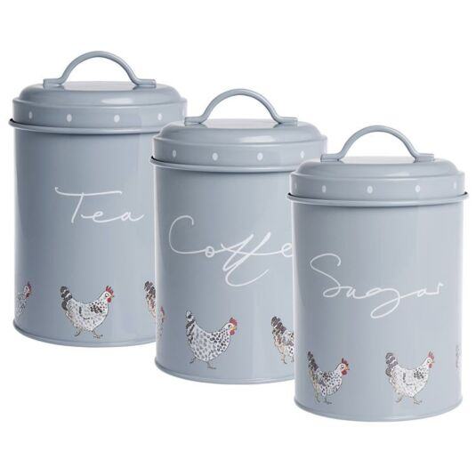 Chicken Set of 3 Storage Tins