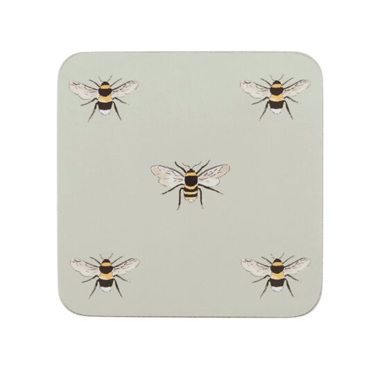 Four Boxed Bees Coasters