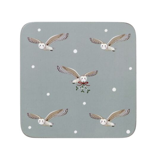 Night Owl Set of 4 Coasters