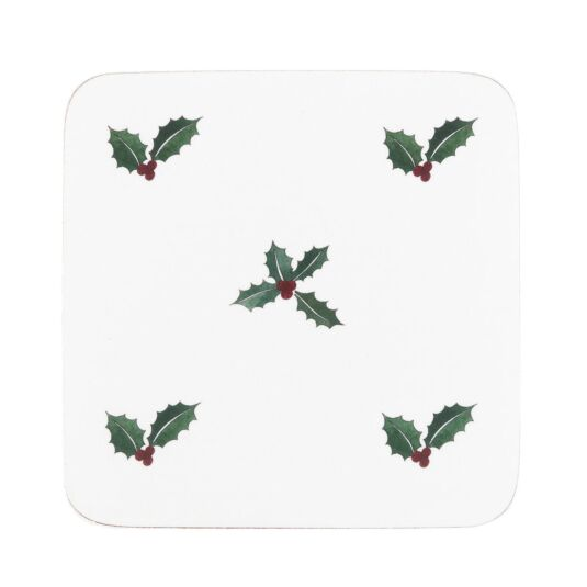 Christmas Holly & Berry Set of 4 Coasters