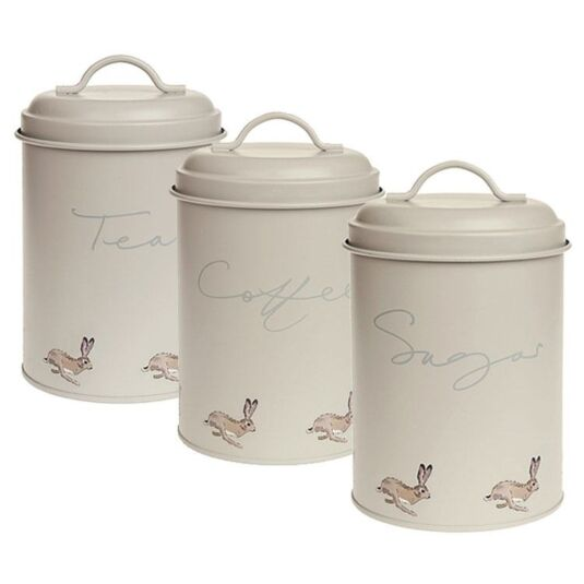 Hare Set of Three Storage Tins