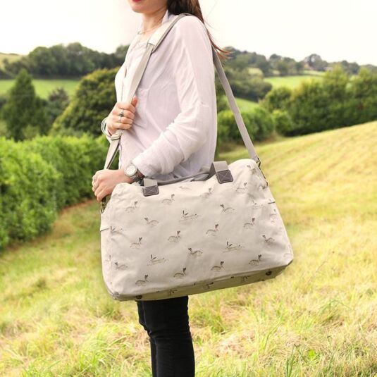 Hare Oilcloth Weekend Bag