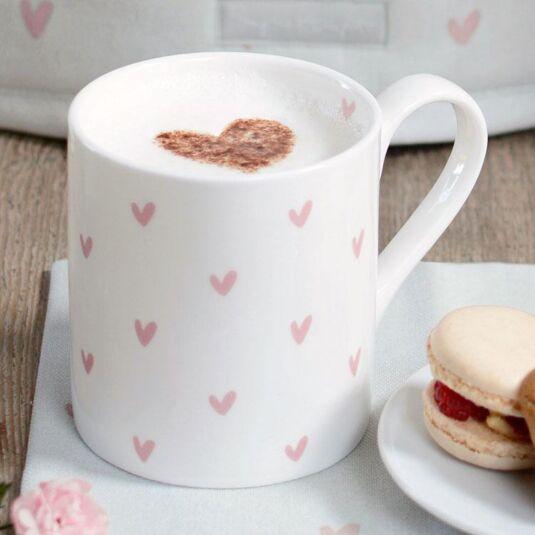 Hearts Pink Boxed Mug