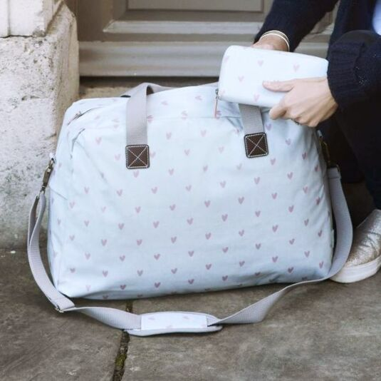 Hearts Oilcloth Weekend Bag