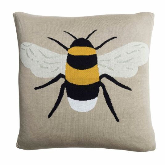 Busy Bees Knitted Statement Cushion