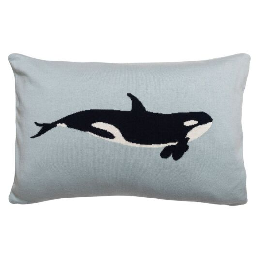 Whales Knitted Statement Cushion